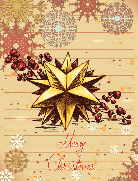 Flake, Season Eps Vector Christmas Illustration  Star  Snow Flake 2015 02 02 051