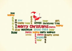 Christmas illustration with santa Vector Illustrations old