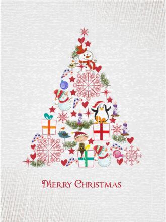 Christmas illustration with Christmas tree Vector Illustrations star