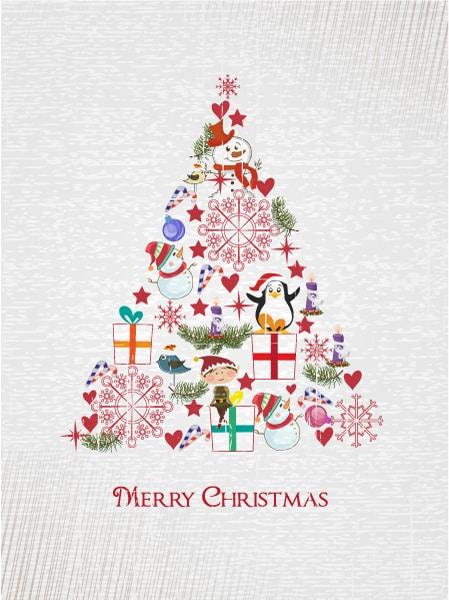 Tree Vector Christmas Illustration  Christmas Tree 2015 02 02 060