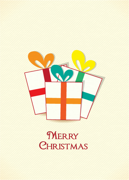 New Poster Vector Image: Christmas Illustration With Gift 2015 02 02 061