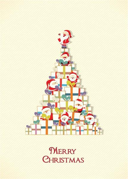 Creative Vector Christmas Illustration  Gift 2015 02 02 062