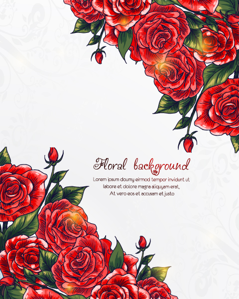 Buy Vintage-2 Vector Graphic: Floral Background Vector Graphic Illustration 5