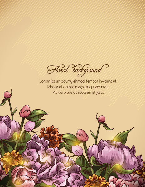 floral background vector illustration Vector Illustrations old