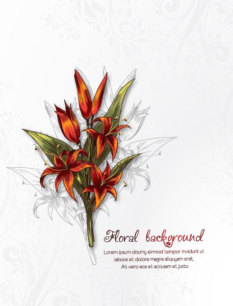 Leaf Vector Graphic Floral Background Vector Illustration 5