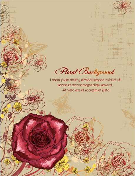 Amazing Floral Vector Graphic: Floral Background Vector Graphic Illustration 5