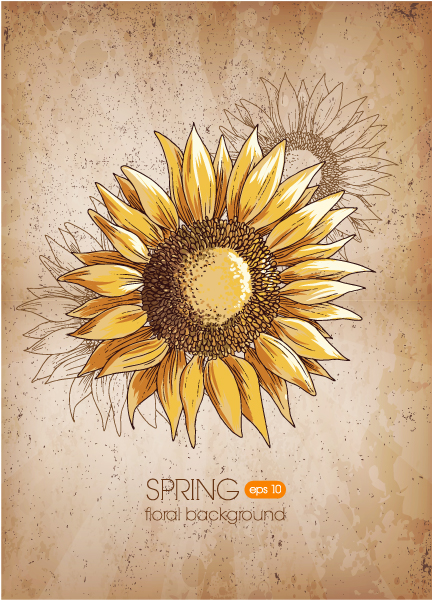 floral background vector illustration Vector Illustrations old