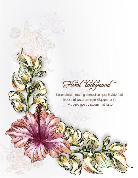 Astounding Floral Vector: Floral Background Vector Illustration 5