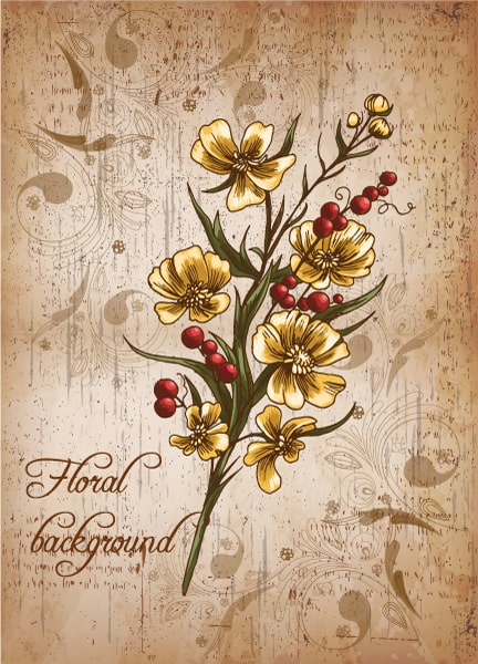 Creative, Floral, Illustration Vector Design Floral Background Vector Illustration 5