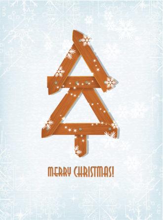 Christmas vector illustration with christmas tree Vector Illustrations vector