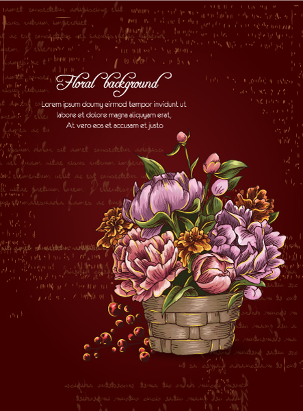 floral background vector illustration 2015 02 02 104