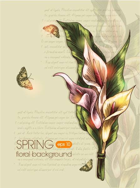 Abstract-2 Vector Graphic Floral Vector Background 2015 02 02 114