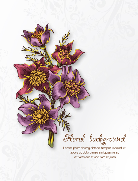 floral vector background 5