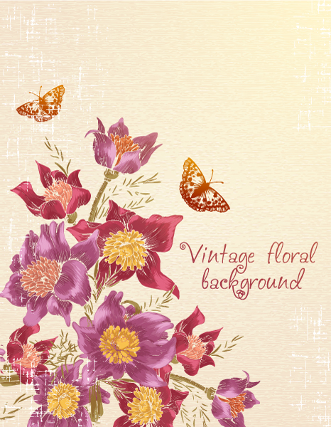 floral vector background with butterflie 2015 02 02 120