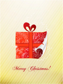 Christmas illustration with gift Vector Illustrations vector