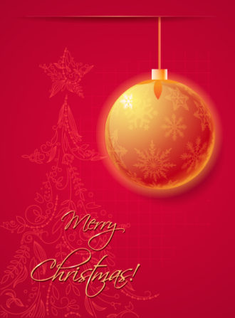 Christmas illustration with Christmas ball Vector Illustrations star