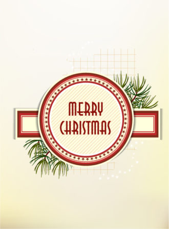 Christmas illustration with Christmas label Vector Illustrations vector