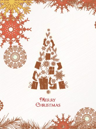 Christmas illustration with Christmas tree Vector Illustrations vector