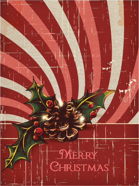 Christmas illustration with pine cone Vector Illustrations vector