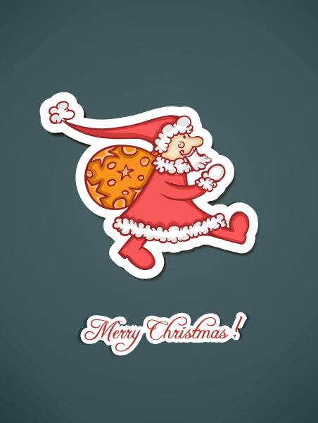 Santa Vector Background Christmas Vector Illustration  Santa Sticker 2015 02 02 143