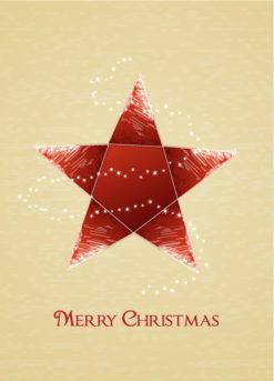 Christmas vector illustration with christmas star Vector Illustrations star