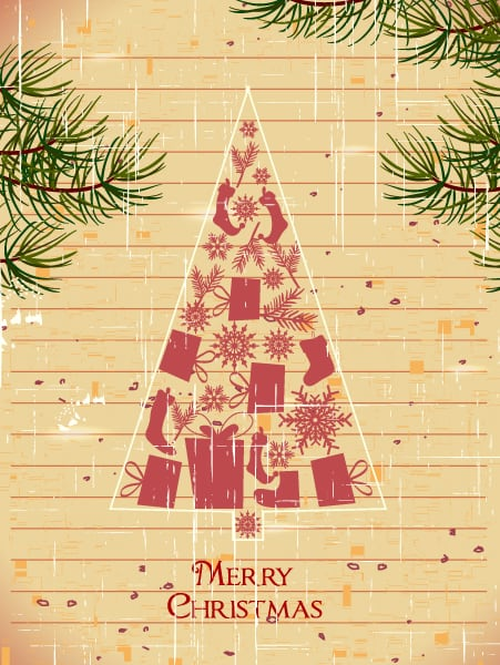 Christmas, Christmas Vector Artwork Christmas Vector Illustration  Christmas Tree 2015 02 02 146