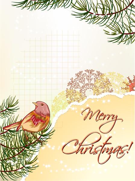 Torn Vector Image: Christmas Vector Image Illustration With Christmas Tree 2015 02 02 148