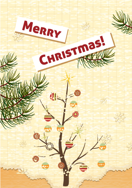 Buy Frame Vector: Christmas Vector Illustration With Christmas Tree 2015 02 02 149