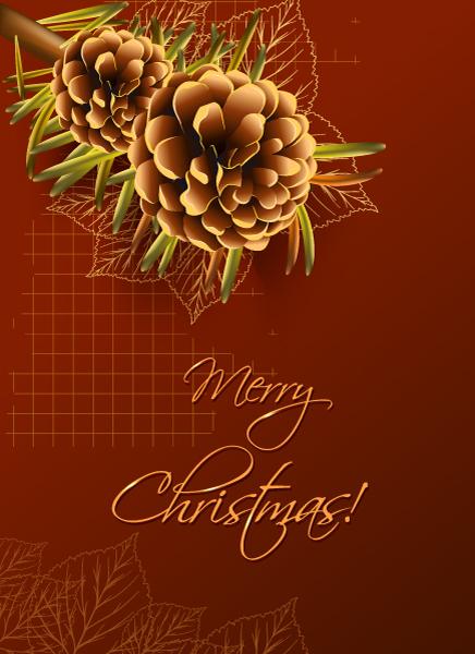 Fir, Christmas Vector Design Christmas Vector Illustration  Pine Cone  Fir 1