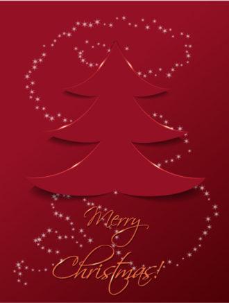 Christmas vector illustration with christmas tree sticker Vector Illustrations tree