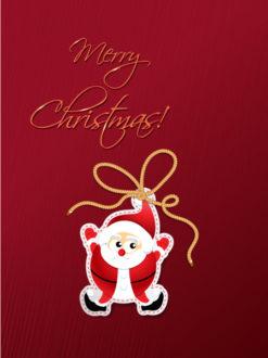 Christmas vector illustration with santa sticker Vector Illustrations old