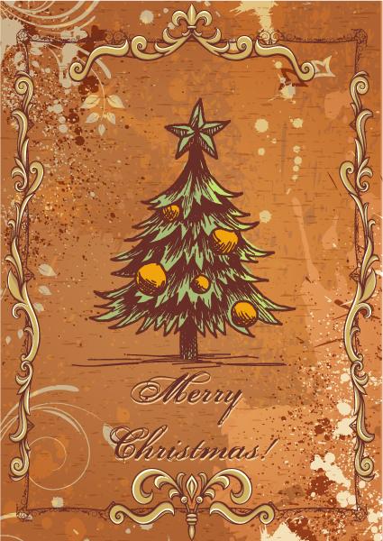 Curve, Christmas Vector Graphic Christmas Vector Illustration  Christmas Tree 2015 02 02 155
