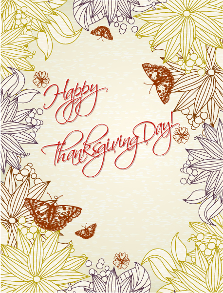 Amazing Illustration Vector Background: Happy Thanksgiving Day Vector Background 5