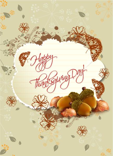 Smashing Thanksgiving Vector Background: Happy Thanksgiving Day Vector Background 2015 02 02 171