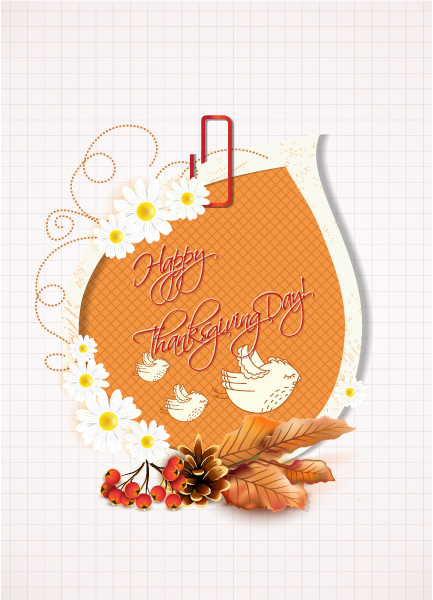 Buy Cranberries Vector Graphic: Happy Thanksgiving Day Vector Graphic 2015 02 02 172