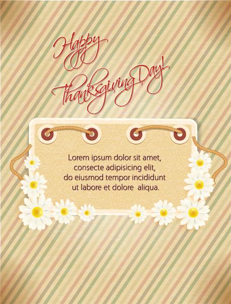 Exciting Retro Vector Illustration: Happy Thanksgiving Day Vector Illustration 2015 02 02 175