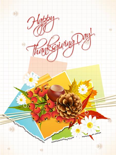 Day, Grid, Happy Vector Design Happy Thanksgiving Day Vector 2015 02 02 177