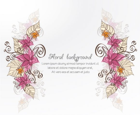 Awesome Floral Vector Image: Floral Vector Image Illustration With Spring Flowers 2015 02 02 183