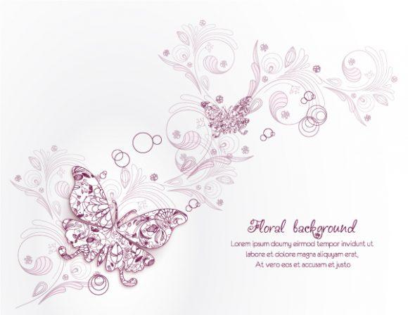 Illustration Vector Background Floral Vector Illustration  Spring Flowers 2015 02 02 184