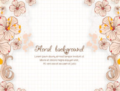 floral vector illustration with spring flowers Vector Illustrations floral