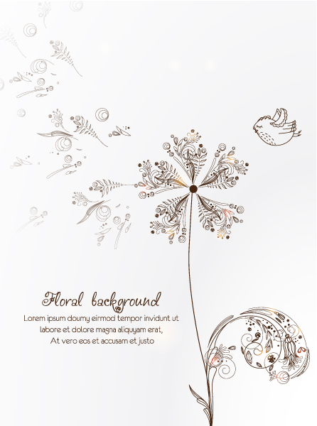 Illustration, Flowers Vector Art Floral Vector Illustration  Spring Flowers 2015 02 02 187