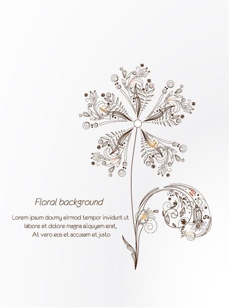 Bold Illustration Vector Image: Floral Vector Image Illustration With Spring Flower 5