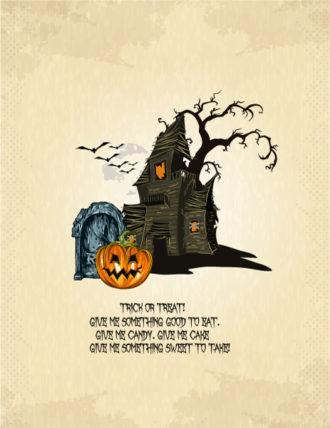 halloween background with pumpkin vector illustration Vector Illustrations vector