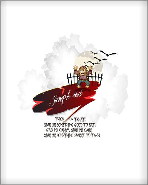 Bold Event Vector Artwork: Halloween Background Vector Artwork Illustration 2015 02 02 208