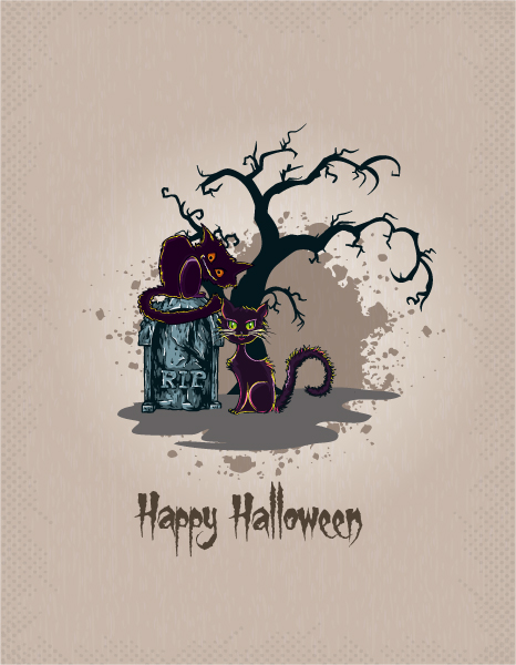 halloween background vector illustration 5