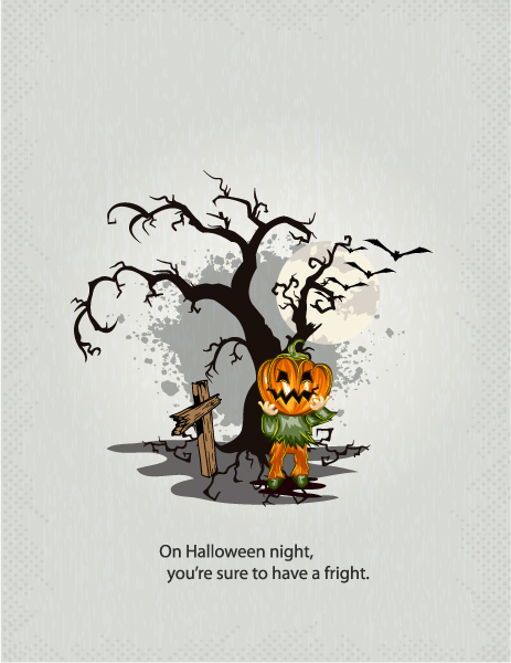 Gorgeous Pumpkin Vector: Halloween Background With Pumpkin Vector Illustration 5