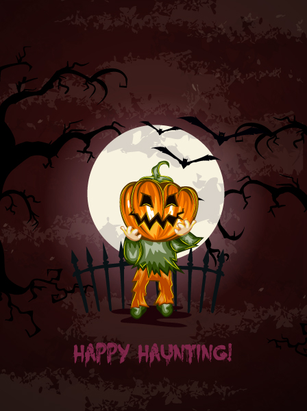 halloween background with pumpkin vector illustration 2015 02 02 214