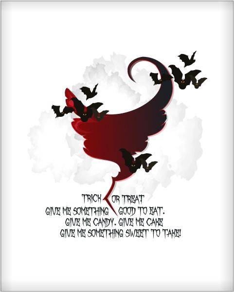 Illustration Vector Artwork: Halloween Background With Bats Vector Artwork Illustration 2015 02 02 229