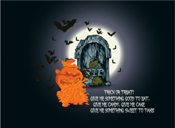 Special Creative Eps Vector: Halloween Background With Pumpkin Eps Vector Illustration 2015 02 02 231