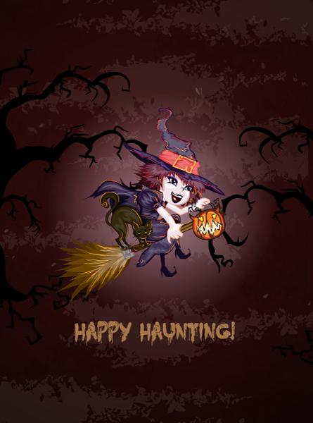 Halloween Vector Halloween Background  Witch Vector Illustration 2015 02 02 232